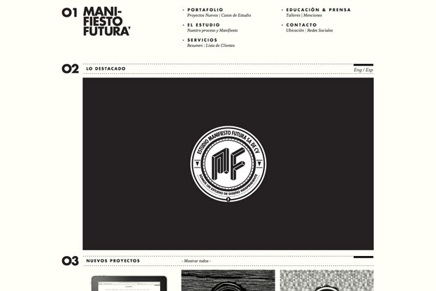 minimal website design futura