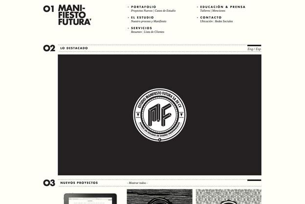 minimal website design futura