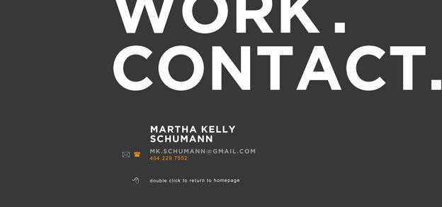 minimal website martha
