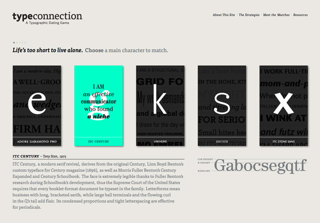 minimal website typeconnection