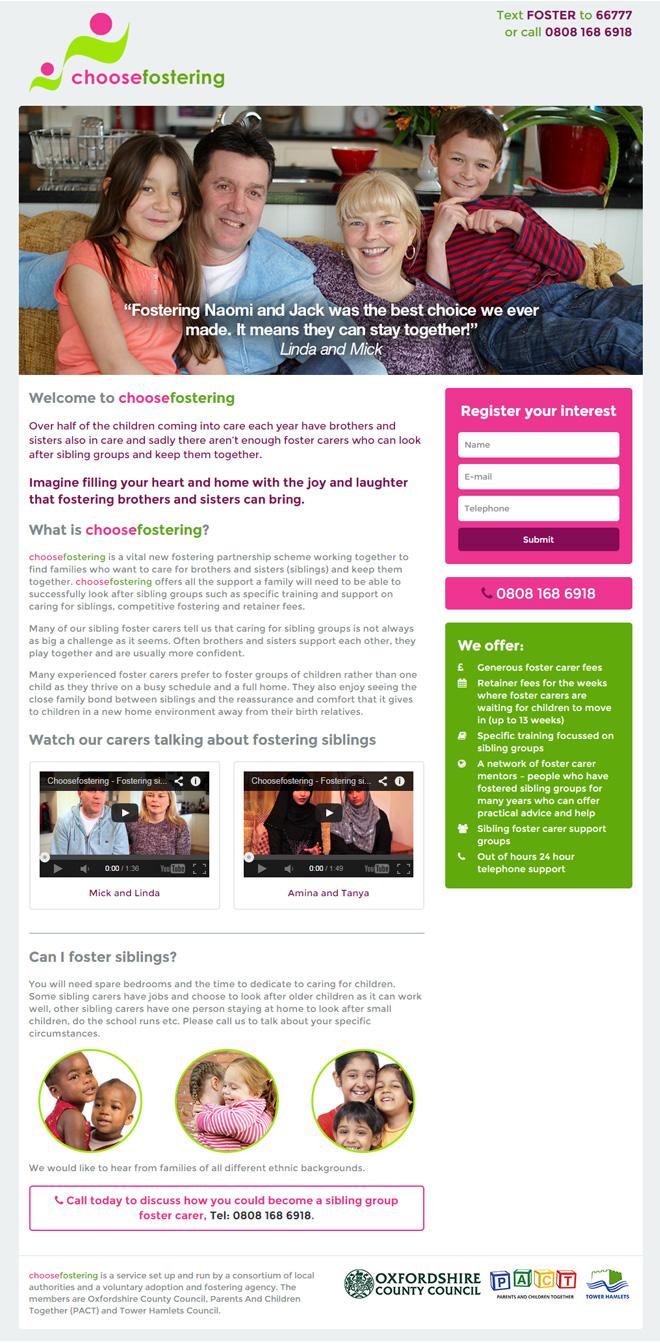 fostering web design