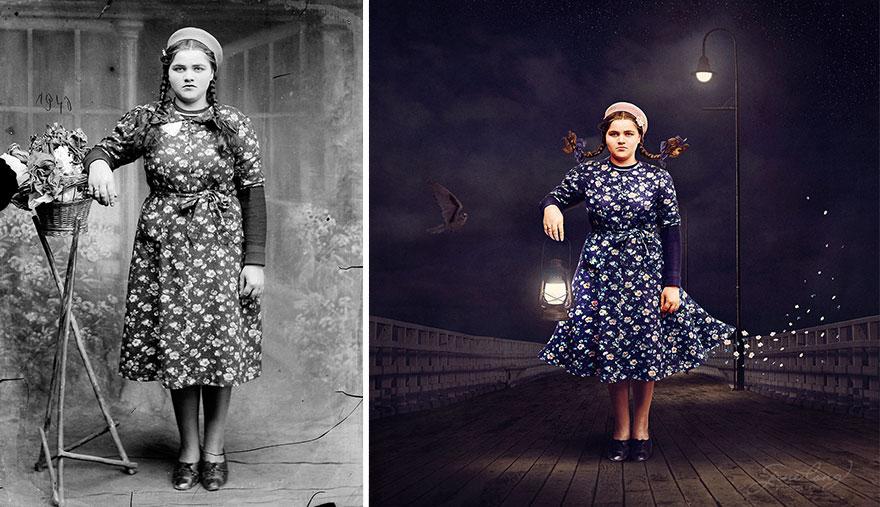 old-photos-recoloured-girl