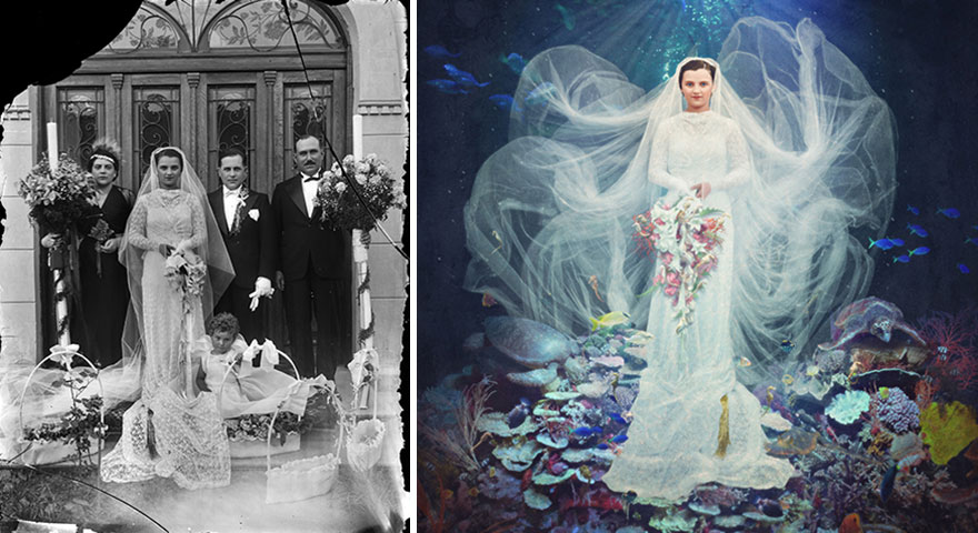 old-photos-recoloured-wedding
