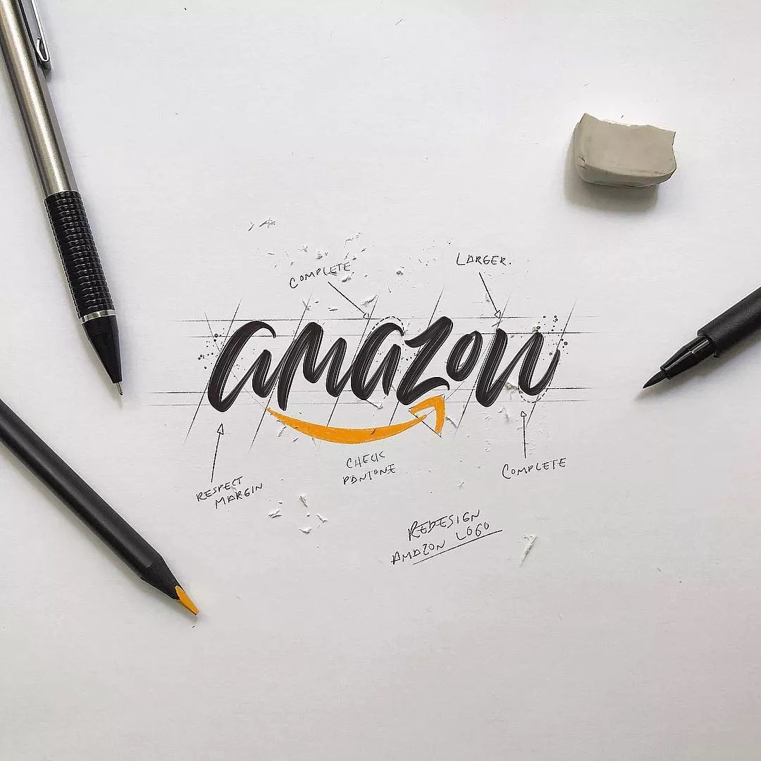 handlettering amazon logo