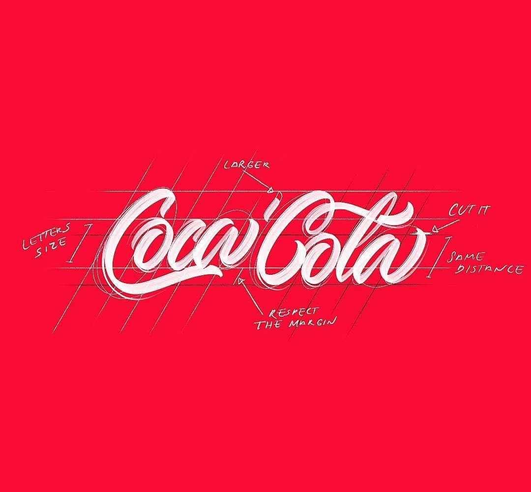 handlettering cocacola logo