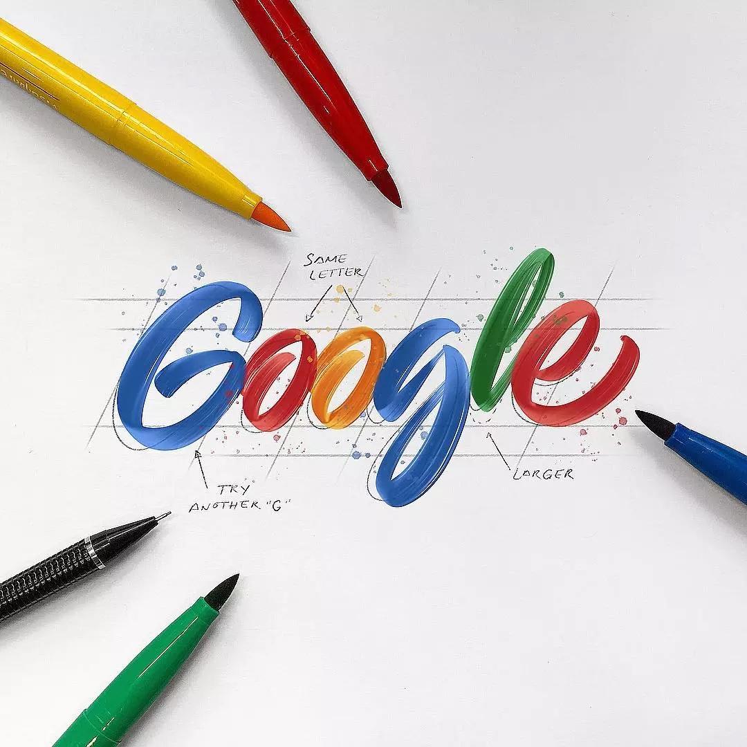 handlettering google logo
