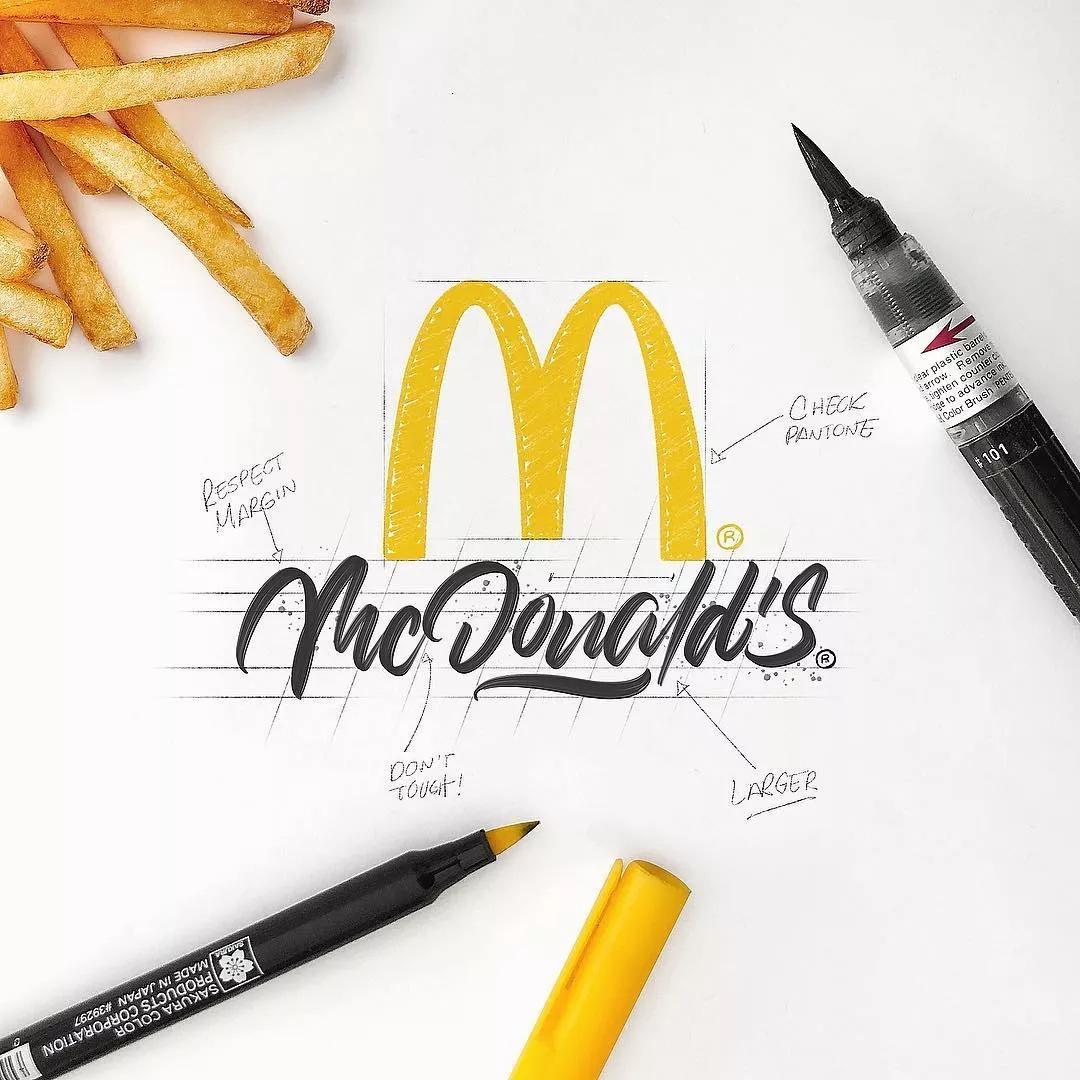 handlettering mcdonalds logo