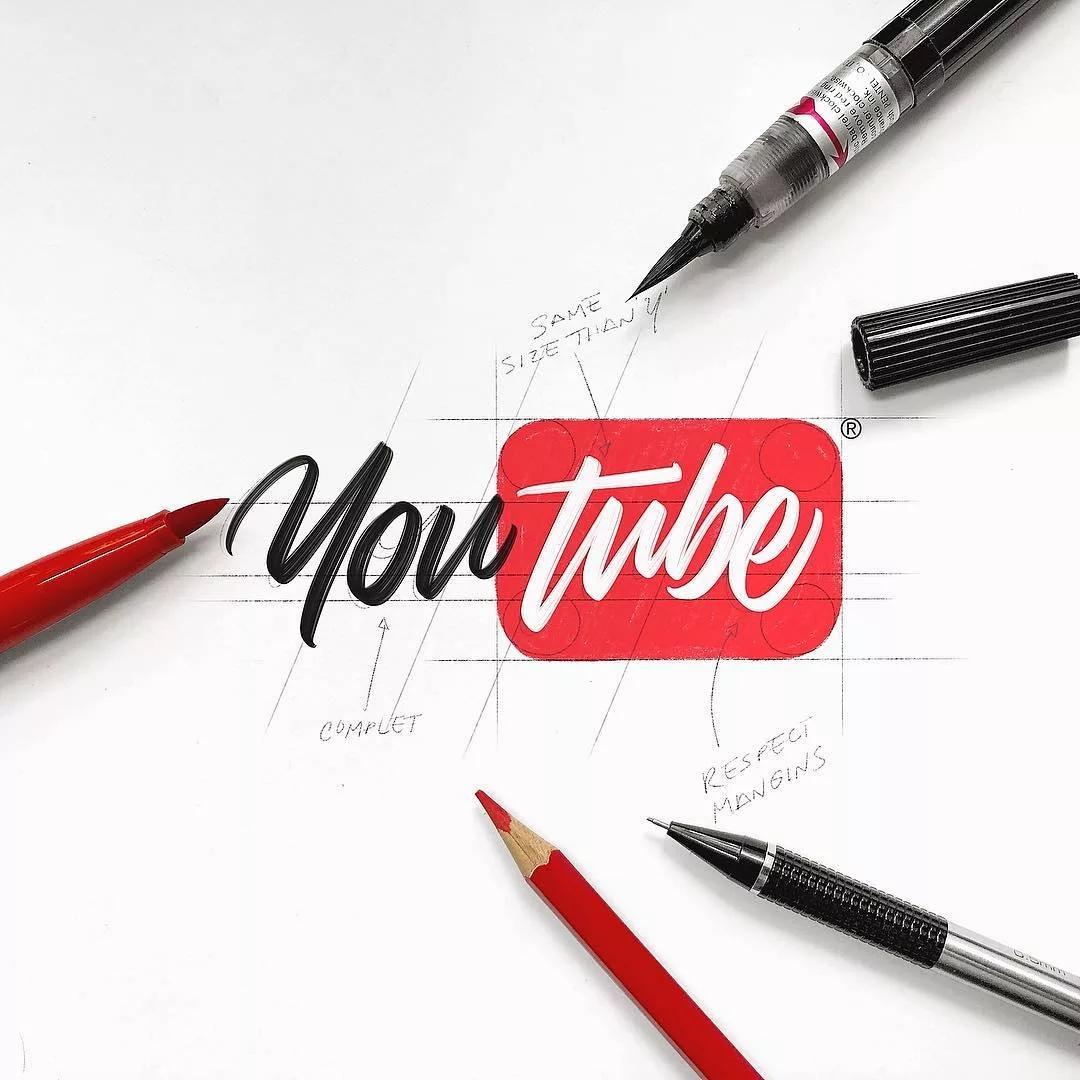 handlettering youtube logo